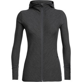 Icebreaker Descender LS Zip Hood Jacket Dame Jet Heather